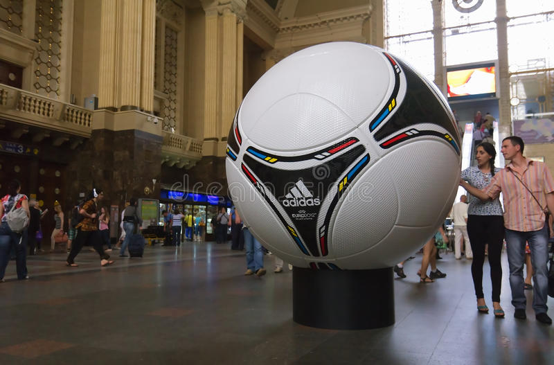 Download Official Matchball Of EURO 2012 POLAND - UKRAINE Editorial Stock Photo - Image: 24804728