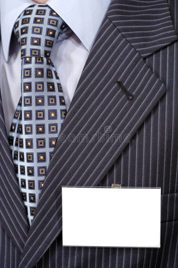 Download Official Suit Fragment With Blank Badge On It. Royalty Free Stock Image - Image: 7950236