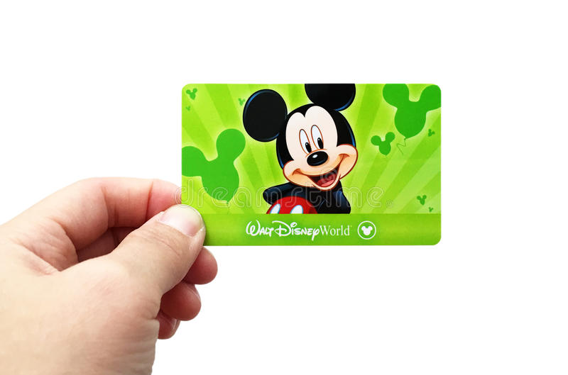 Official USA Orlando Disney World tickets royalty free stock photography