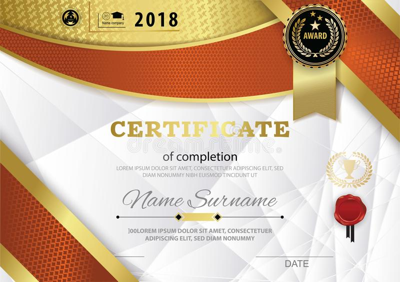 Official white certificate of appreciation award template with red download official white certificate of appreciation award template with red gold shapes and black badge stock yelopaper Images