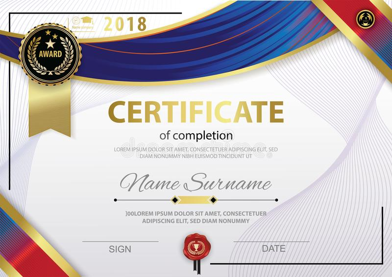 Official white certificate of appreciation award template with red download official white certificate of appreciation award template with red gold shapes and black badge stock yelopaper Choice Image