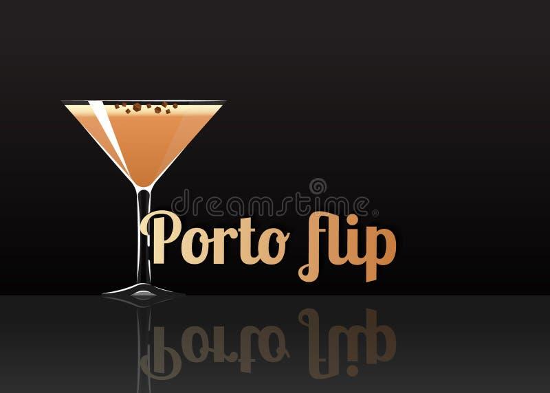 Officieel cocktailpictogram, de Onvergetelijke Porto illustratie van het tikbeeldverhaal royalty-vrije illustratie