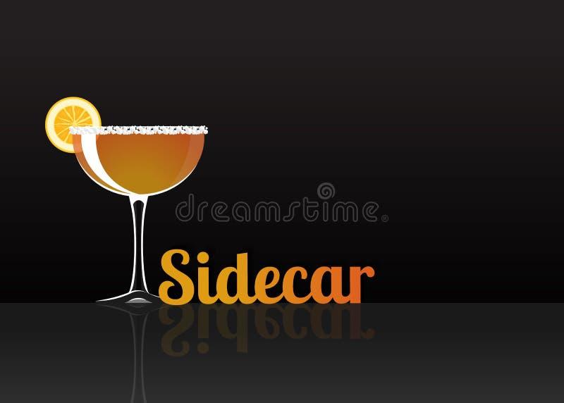 Officieel cocktailpictogram, de Onvergetelijke Sidecar beeldverhaalillustratie vector illustratie