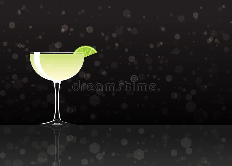 Officieel cocktailpictogram, Onvergetelijke Daiquiri vector illustratie