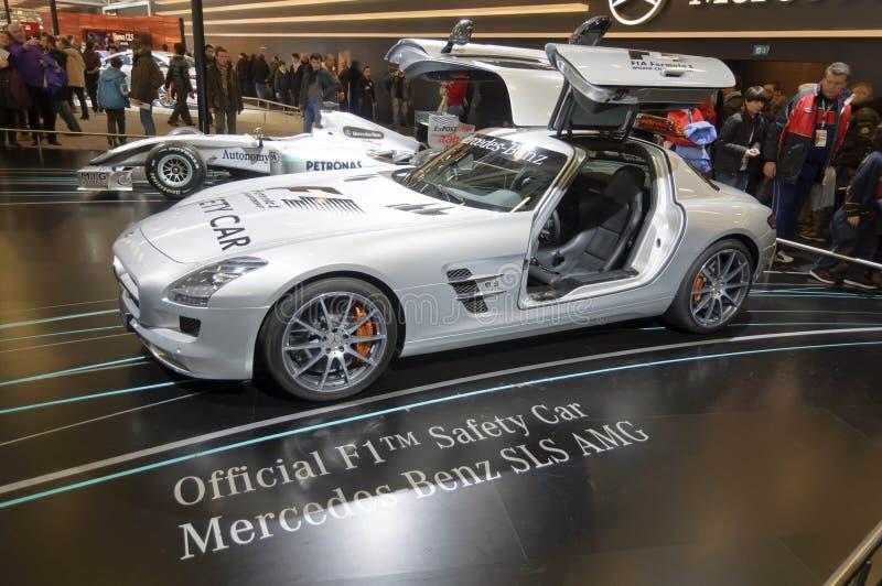 Officieel F1 Benz SLS AMG van Mercedes van de Auto van de Veiligheid stock foto's