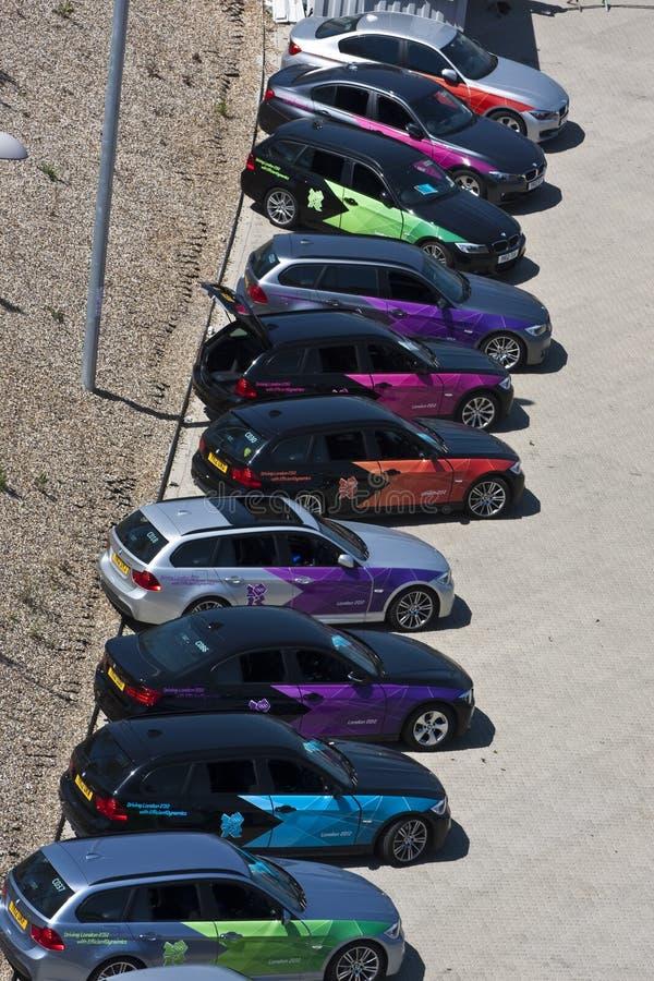 Officieel Olympisch BMW Van Londen 2012 5 Reeksen. Redactionele Fotografie