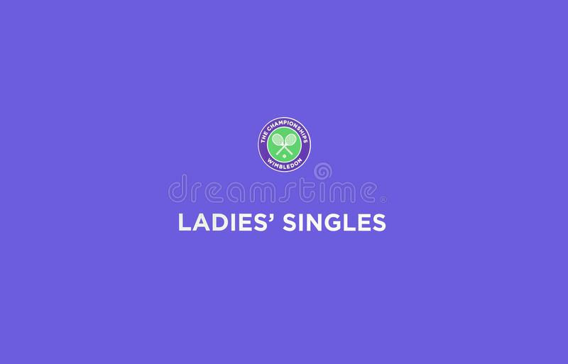 Officiell skylt av Wimbledon arkivfoto