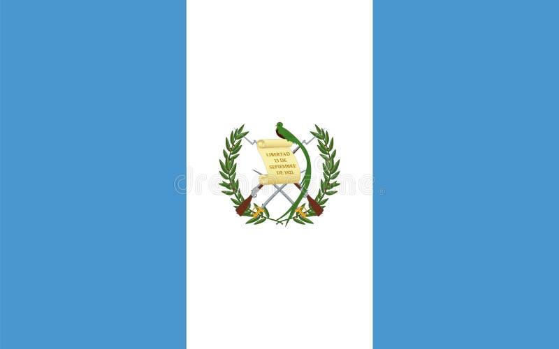 Officiell vektorflagga av Guatemala stock illustrationer