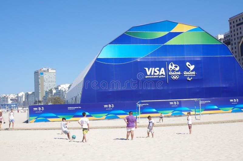 Officiellt lager för Rio2016 royaltyfria bilder