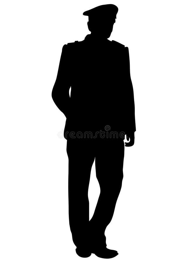 Download Officier illustration de vecteur. Illustration du contour - 8654025