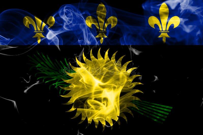 Officieuze de rookvlag van Guadeloupe, FL van het grondgebied van Frankrijk afhankelijk stock illustratie