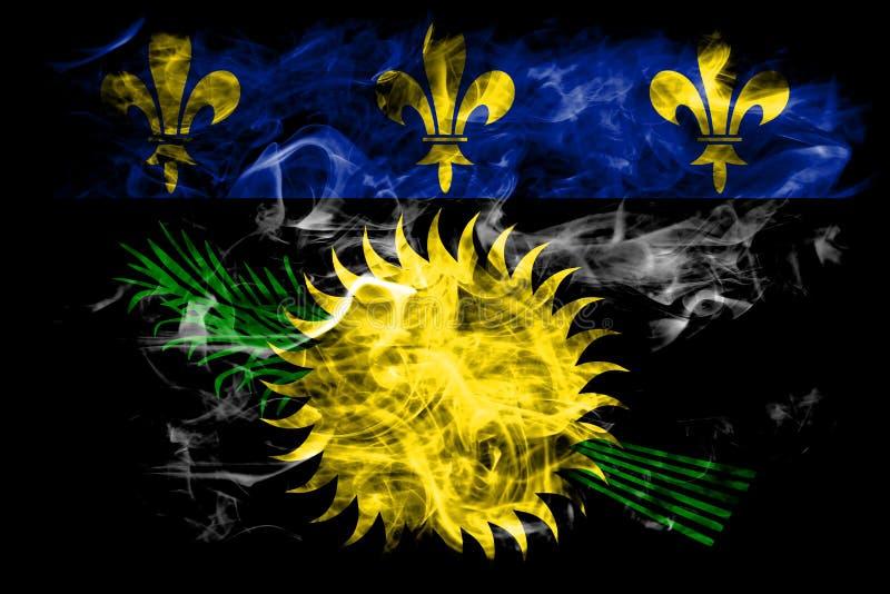 Officieuze de rookvlag van Guadeloupe, FL van het grondgebied van Frankrijk afhankelijk royalty-vrije illustratie