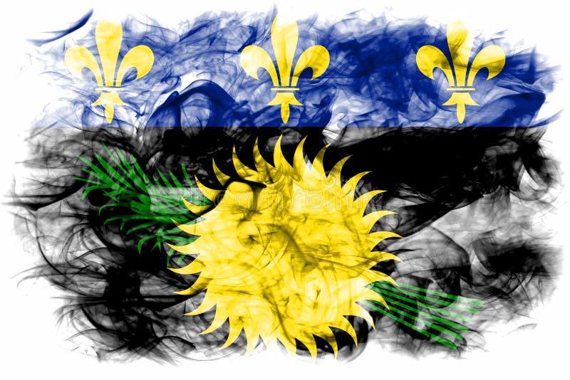 Officieuze de rookvlag van Guadeloupe, FL van het grondgebied van Frankrijk afhankelijk vector illustratie