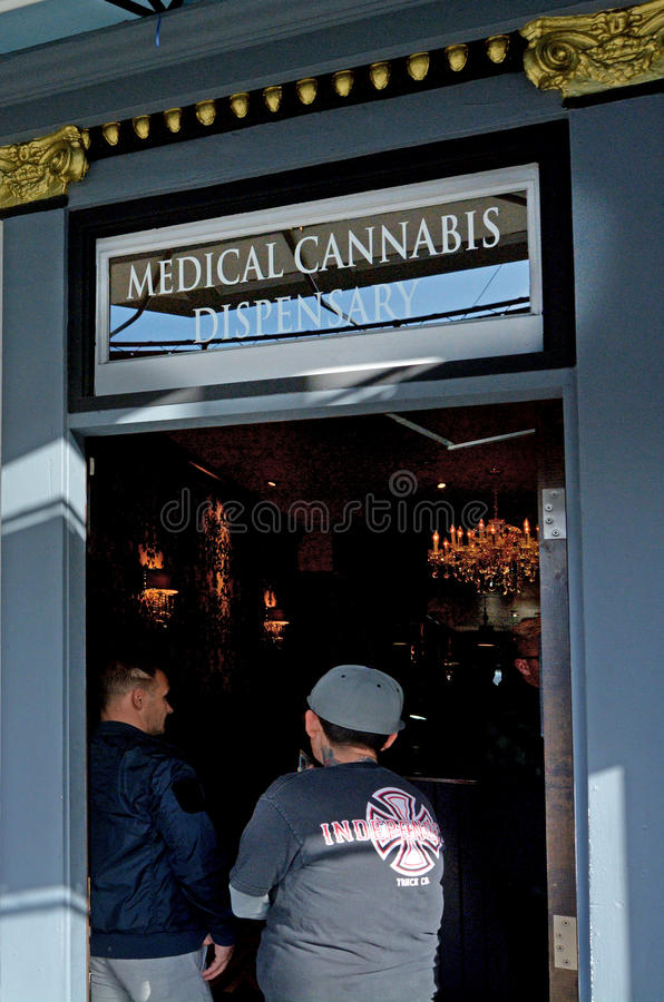 Officine médicale de cannabis en San Francisco California images stock