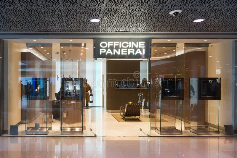 Officine Panerai butik i IFC Mall, Hongkong royaltyfria foton
