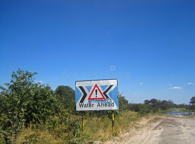 OFFIZIELLE WARNZEICHEN HEREIN BOTSWANA, DER FARBEN VON BOTSWANA-STAATSFLAGGE ENTHÄLT stockfotografie