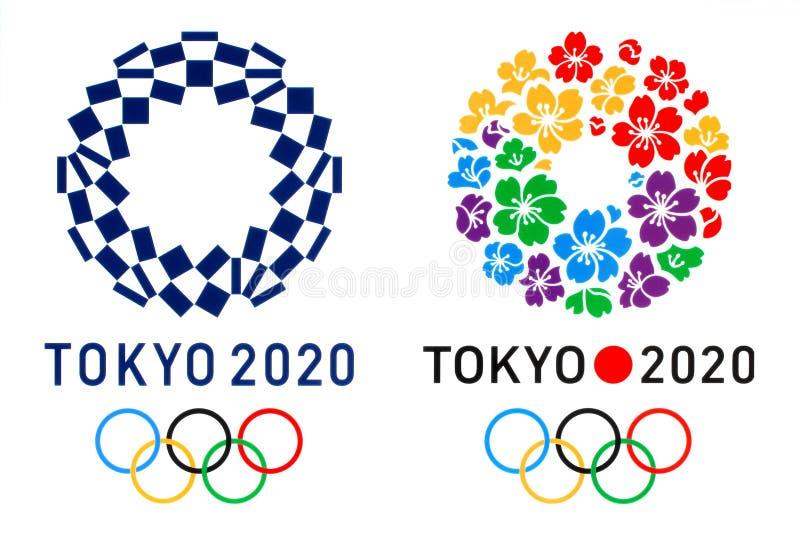 Offizielles Logo Der Olympischen Sommerspiele 2020 In Tokio Und Logo Der Bewerberstadt Tokio Redaktionelles Stockfoto Bild Von Gruppe International 165846618
