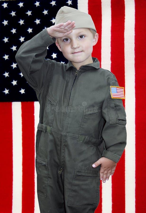 Offizier des kleinen Jungen stockbilder