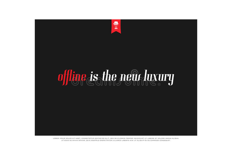 Offline luxury vector illustration
