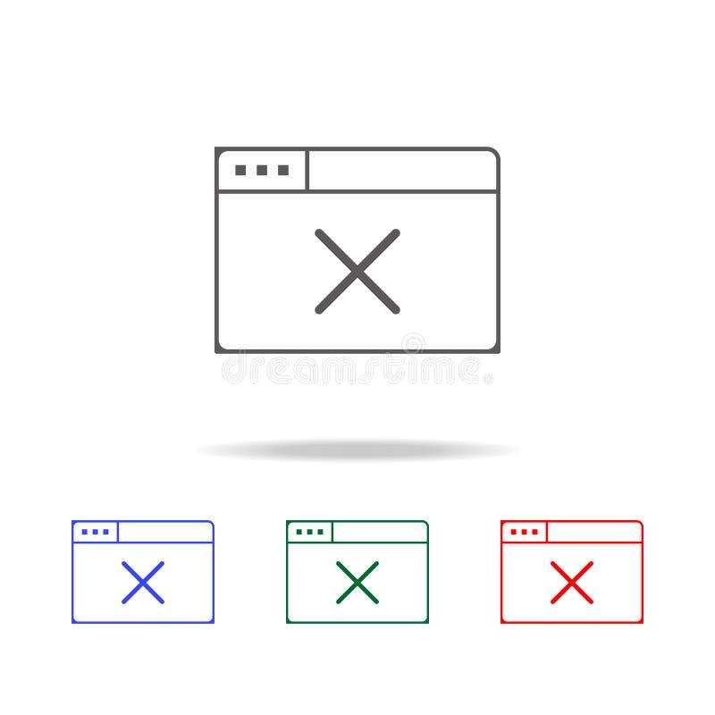 offline-webbläsaresymbol Beståndsdelar i mång- kulöra symboler för mobila begrepps- och rengöringsdukapps Symboler för websitedes royaltyfria foton