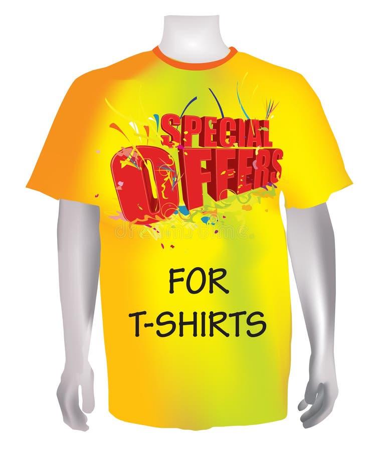 offre à des chemises t spécial illustration libre de droits