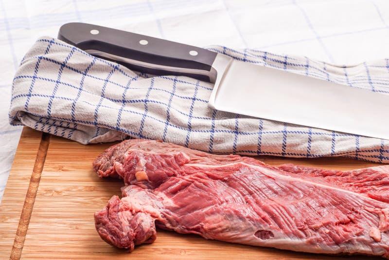 Offre accrochante, bifteck de cintre, onglet images stock