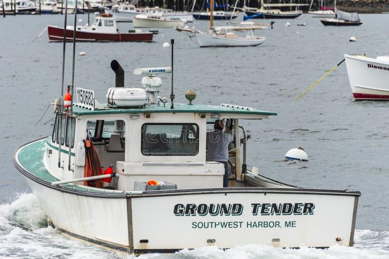 Offre d'au sol de Lobsterboat photographie stock libre de droits