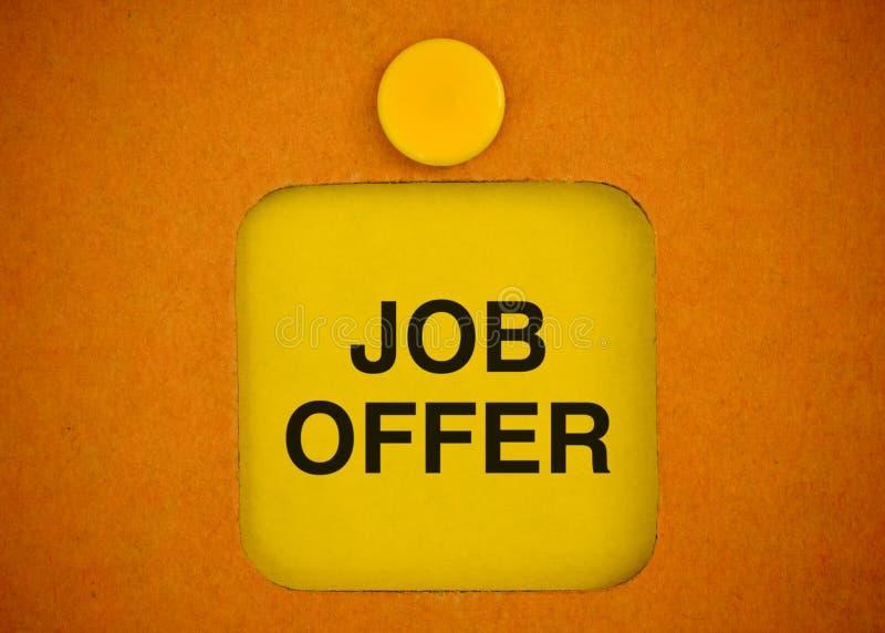 Offre d'emploi image stock