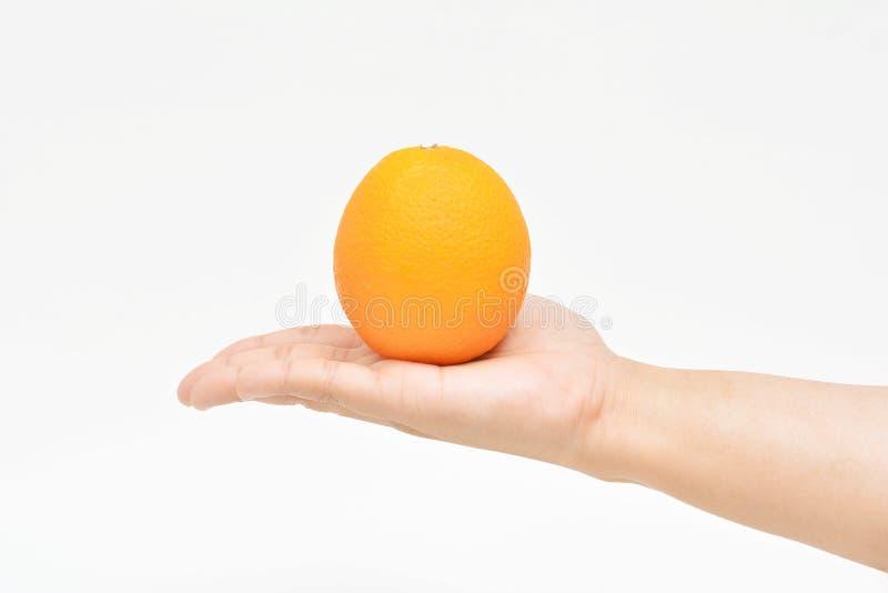 Offre d'une orange photo libre de droits