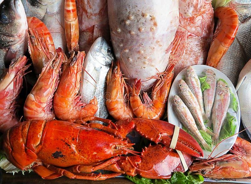 Offre de délicatesses de fruits de mer photos stock