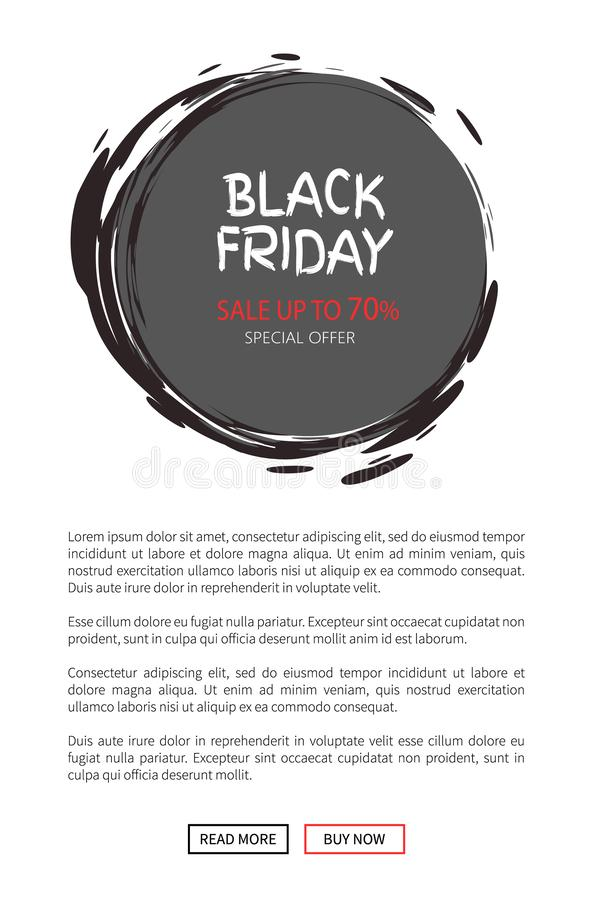 Offre de vente de total de Black Friday Icône ronde d'autocollant illustration libre de droits