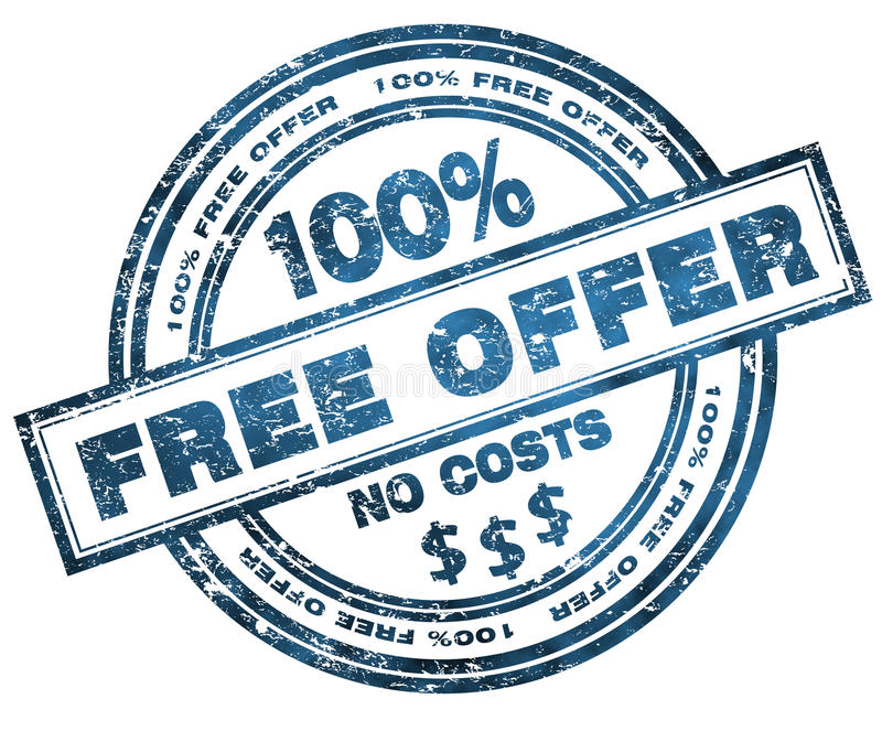 offre gratuite 100 d 39 estampille illustration stock illustration du message simplicit 28484350. Black Bedroom Furniture Sets. Home Design Ideas