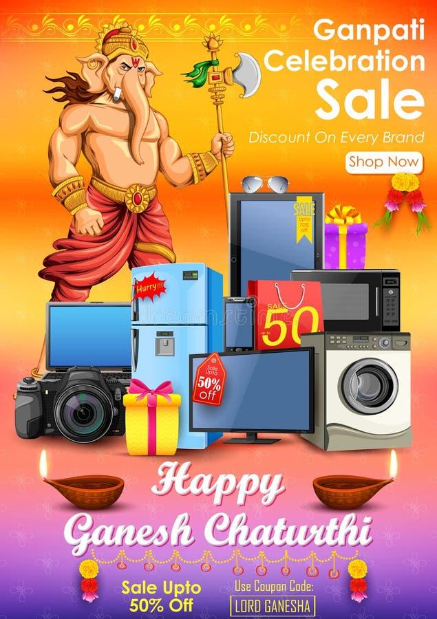 Offre heureuse de vente de Ganesh Chaturthi illustration de vecteur