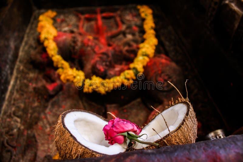 Offre indoue de rituels photo stock