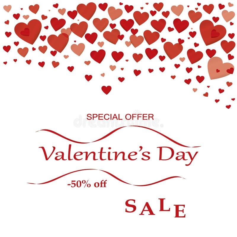 Offre spéciale de vente de jour du ` s de Valentine photos libres de droits