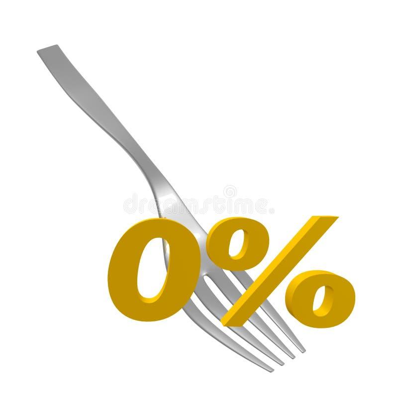 Offre zéro de pour cent illustration libre de droits