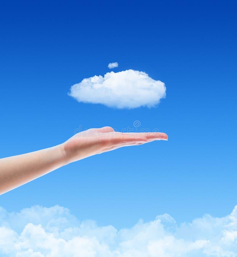 Offrez un concept de nuage photo libre de droits
