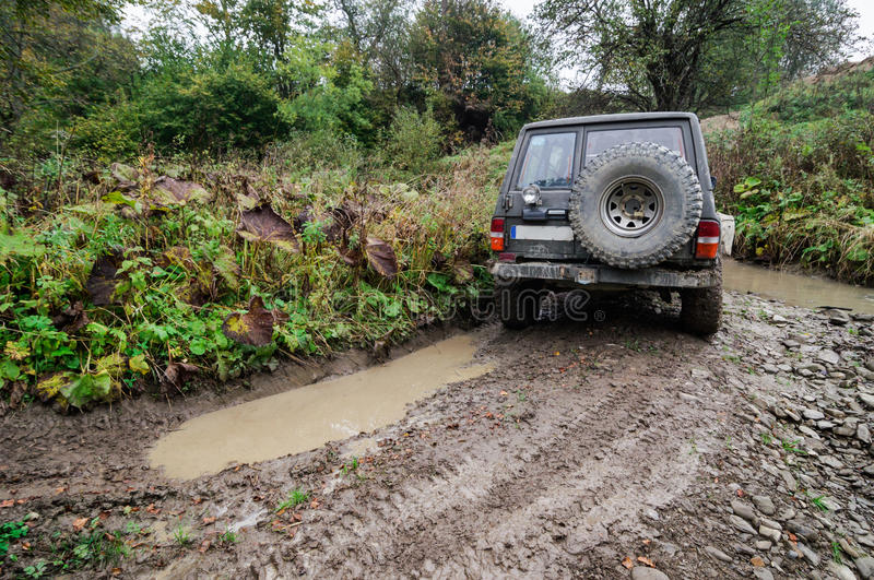 Offroad. An offroad all terrain vehicle stock photo