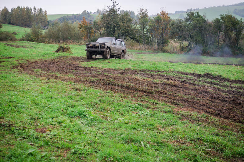 Offroad. An offroad all terrain vehicle royalty free stock photography