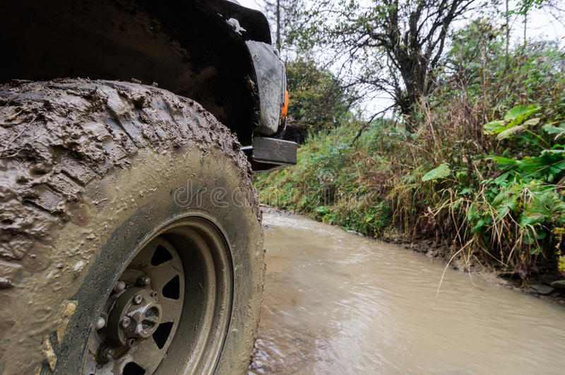 Offroad. An offroad all terrain vehicle royalty free stock photos