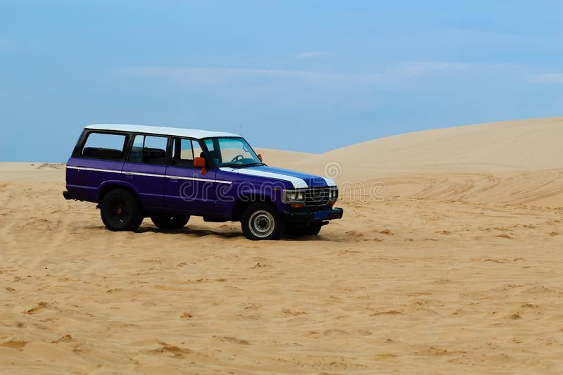 Offroad,Cars in the desert. Veitnam stock photo