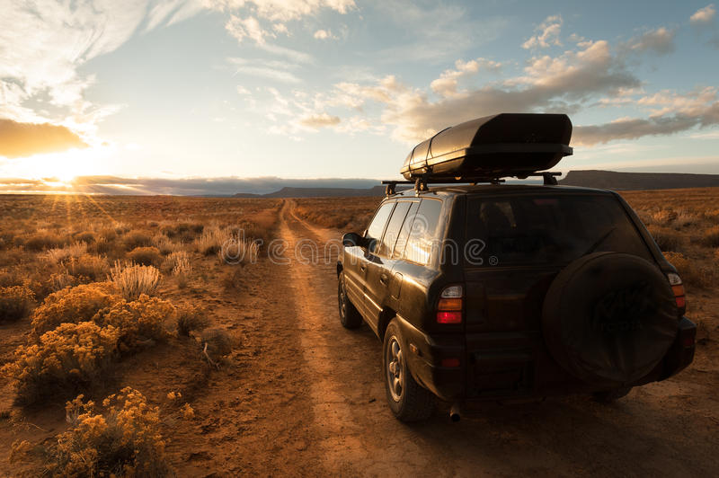 Offroad driving in the desert royalty free stock images