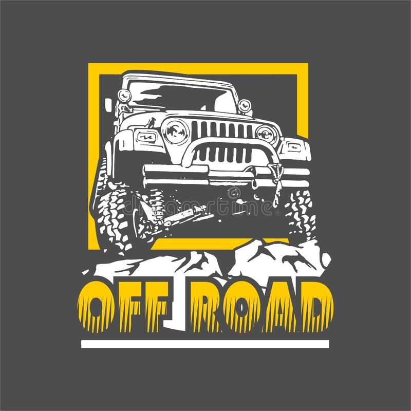 Off Road Jeep. Offroad jeep High data quality with vector files vector illustration