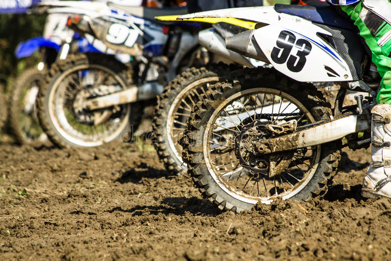 Offroad motorbike competition stock photography