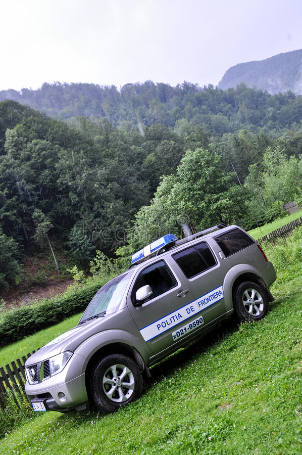 Offroad police car stock image