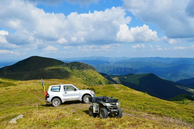 OffRoad. In Romania stock photos