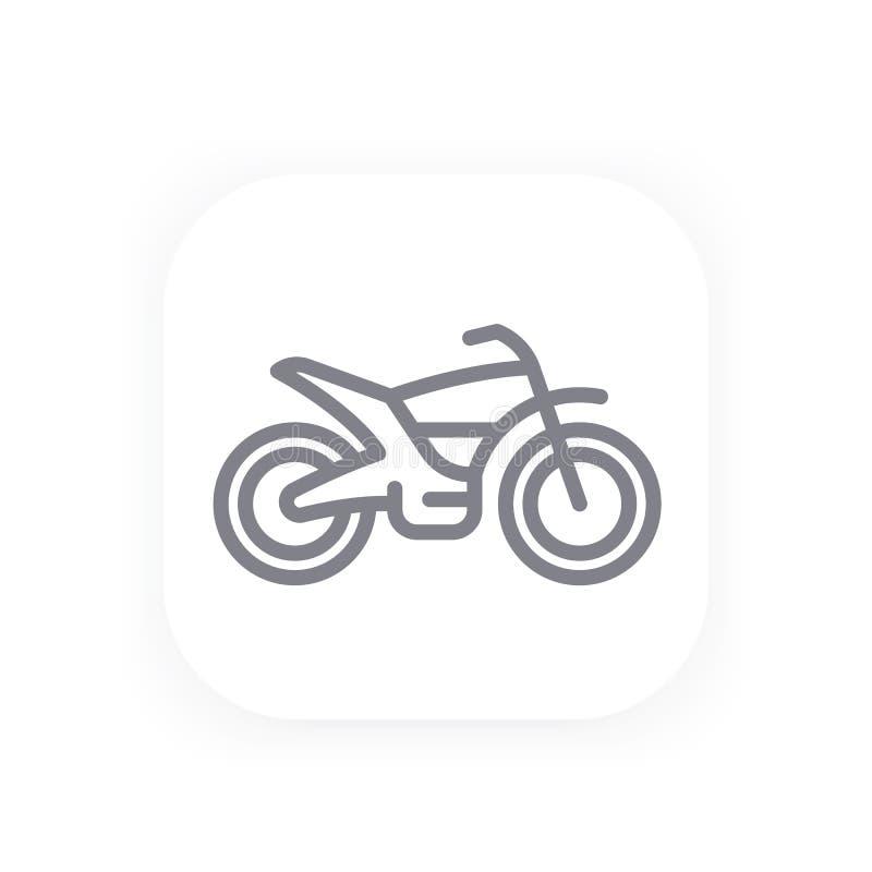Offroad rower linii ikona, motocyklu wektor ilustracja wektor