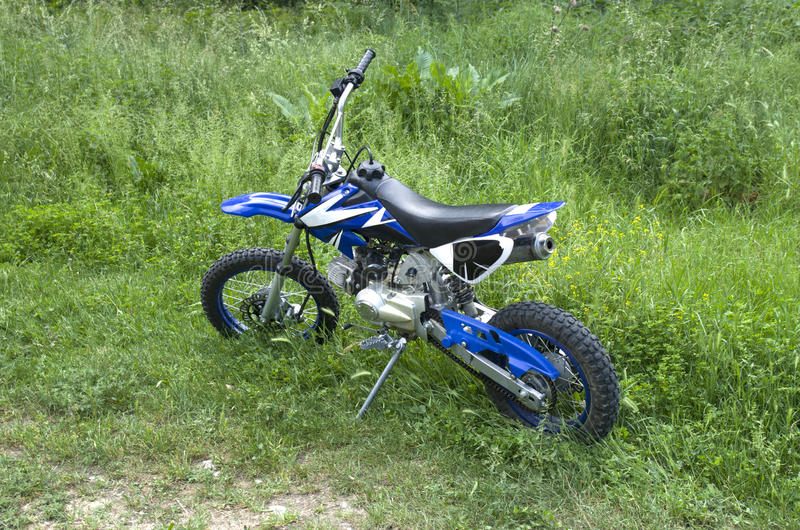 Offroad small teenage motorbike. For outdoor adventure stock photo