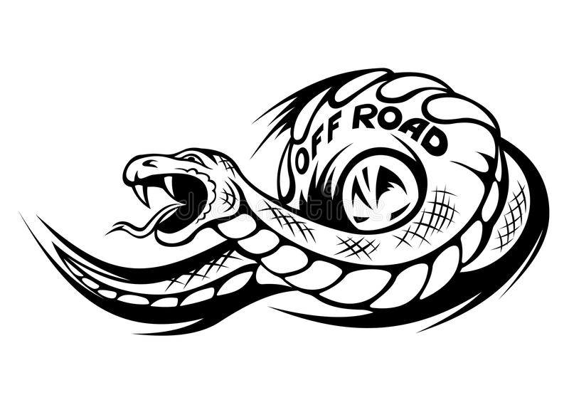 Offroad Snake Tattoo Royalty Free Stock Photos Image