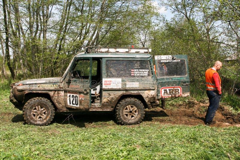Offroad truck championship, Aluksne, Latvia, May 10, 2008. Participants in offroad truck championship, Aluksne, Latvia, May 10, 2008 stock photos